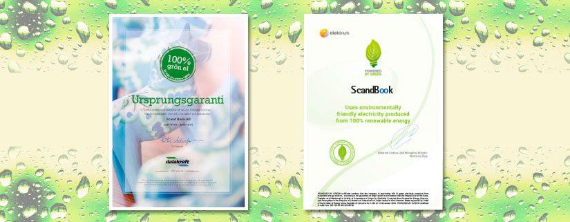 ScandBook goes green